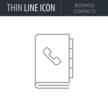 Symbol of Business Contacts. Thin line Icon of Modern Business. Stroke Pictogram Graphic for Web Design. Quality Outline Vector Symbol Concept. Premium Mono Linear Beautiful Plain Laconic Logo Logo