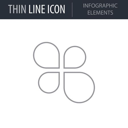 Symbol of Infographic Elements. Thin line Icon of Infographics. Stroke Pictogram Graphic for Web Design. Quality Outline Vector Symbol Concept. Premium Mono Linear Beautiful Plain Laconic Logo
