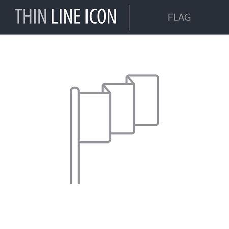Symbol of Flag. Thin line Icon of Saint Patrick Day. Stroke Pictogram Graphic for Web Design. Outline Vector Symbol Concept. Premium Mono Linear Beautiful Plain Laconic Logo