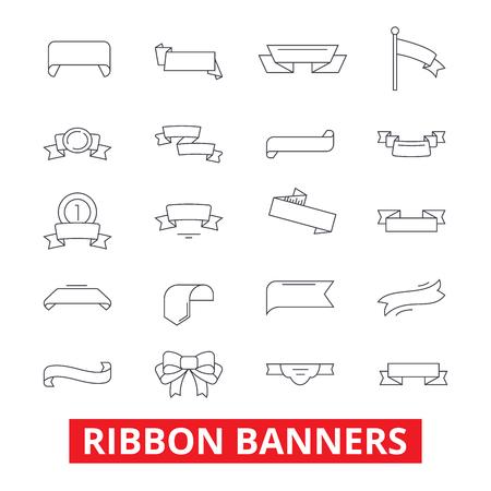 ribbon banners frame label tag bow vintage design trophy