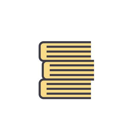 Books, flat linear illustration isolated on white background Illustration