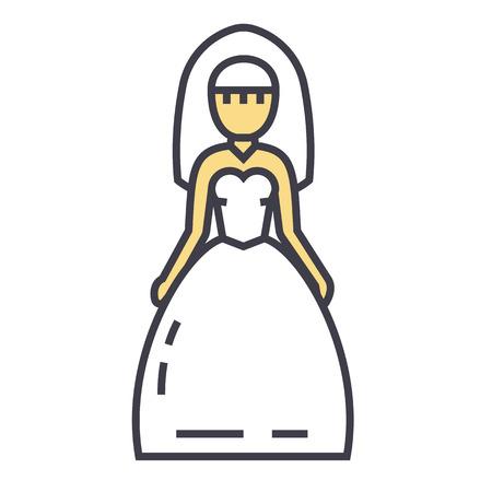 Braut-Symbol. Standard-Bild - 83978914