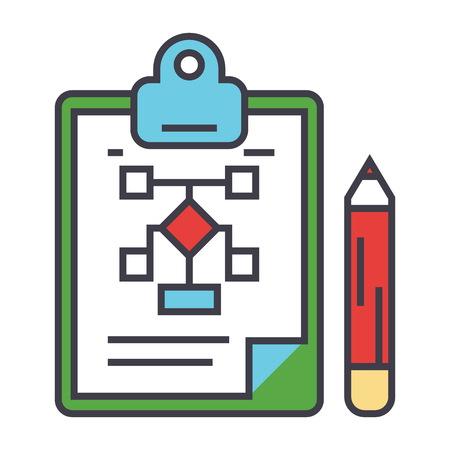 Business scheme plan icon.