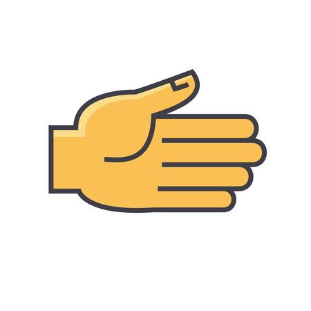 Concept de geste ouvert. Icône du vecteur de ligne. AVC éditable. Flat illustration linéaire isolé sur fond blanc Banque d'images - 83978767