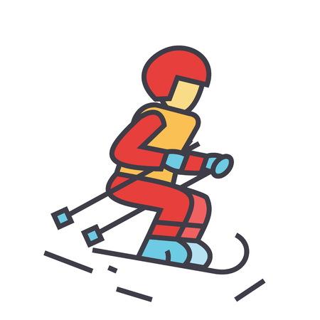 Skier illustration. Stock Vector - 83978872