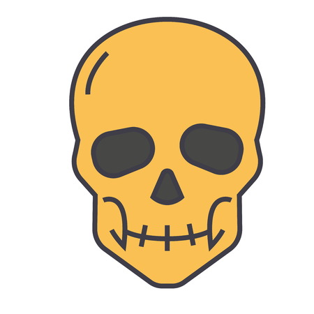 Skull illustration.