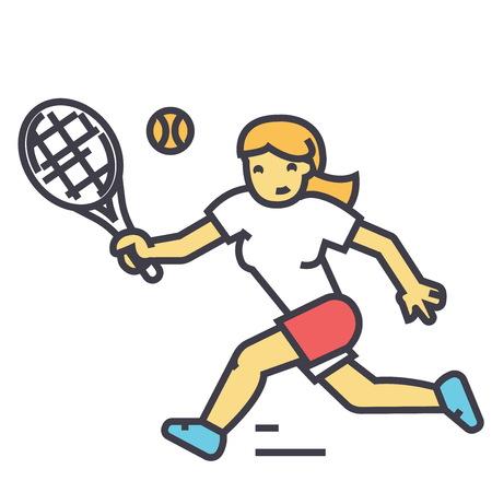 Tennis player illustration.