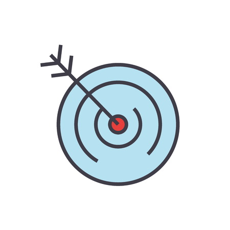 Target illustration. 向量圖像