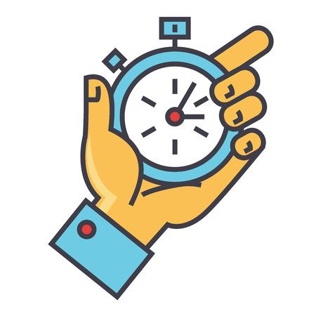 時間管理概念のアイコン。