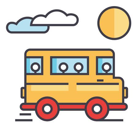 Travel bus concept.