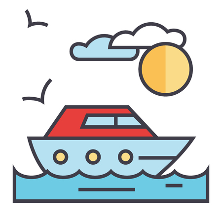 Sea travel icon.