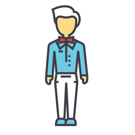 Trendy man illustration. Illustration