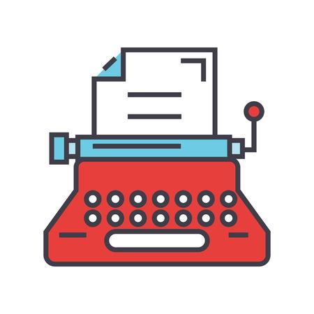 タイプライターのアイコン。