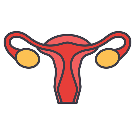 Uterus icon. Illustration