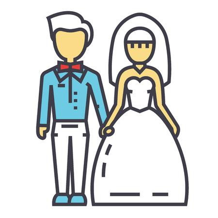 Wedding couple icon.