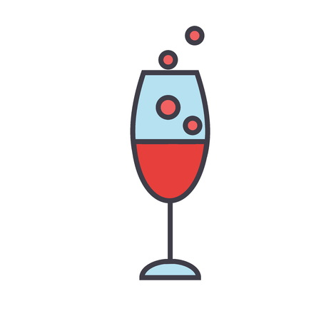 Red wine glass icon.