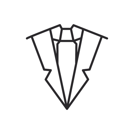 suit and tie vector line icon, sign, illustration on white background, editable strokes