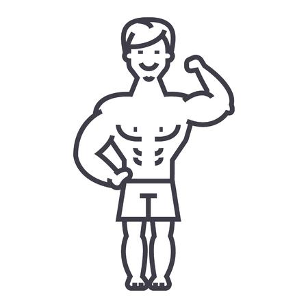 Icono de hombre fuerte Foto de archivo - 87220911
