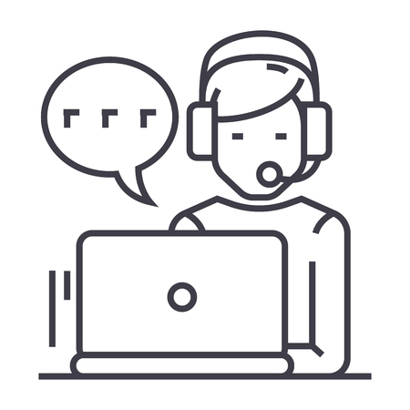 Customer service line icon