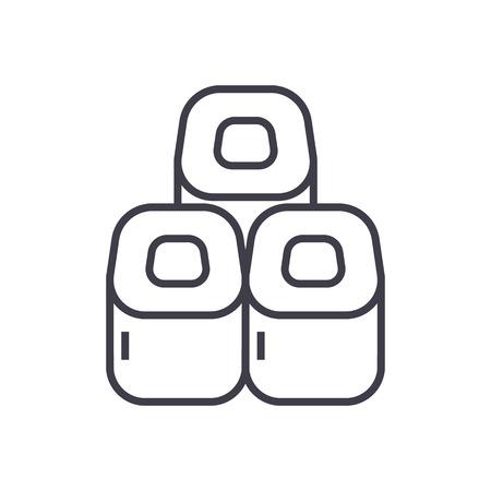 Sushi rolt lijn pictogram Stockfoto - 87220924