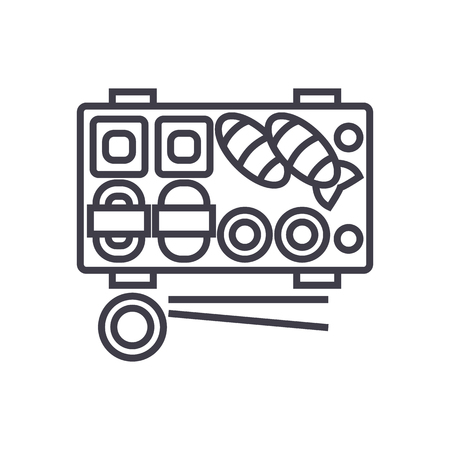 Sushi  line icon Illustration