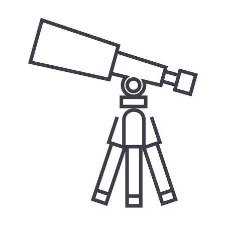 Telescope line icon