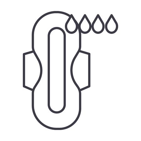 Icono de la línea de la menstruación Foto de archivo - 87220955