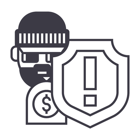 Steal line icon Illustration