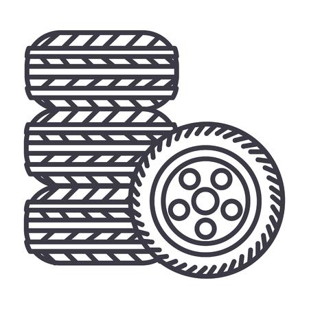 Tire line icon
