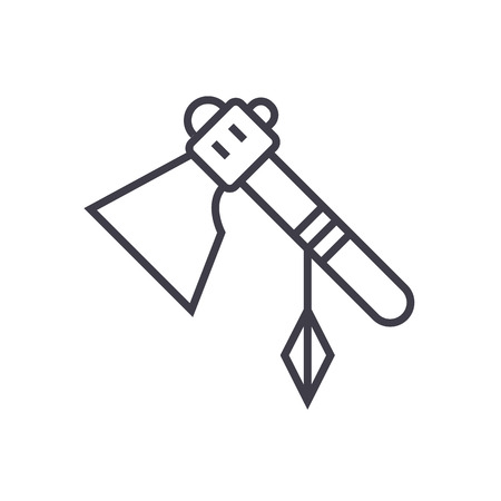 Tomahawk line icon