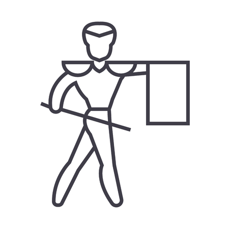 Matador line icon Иллюстрация