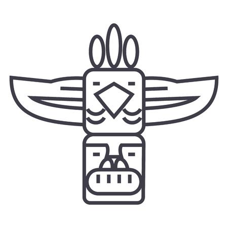 Totem line icon