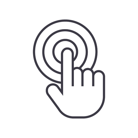 Touch by finger line icon