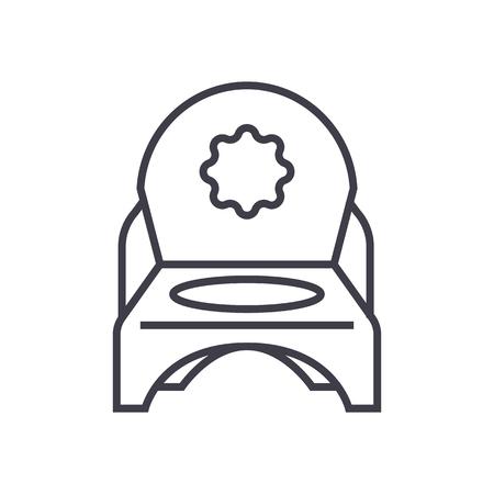 Toilet potty line icon