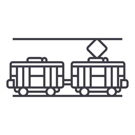 Tram line icon