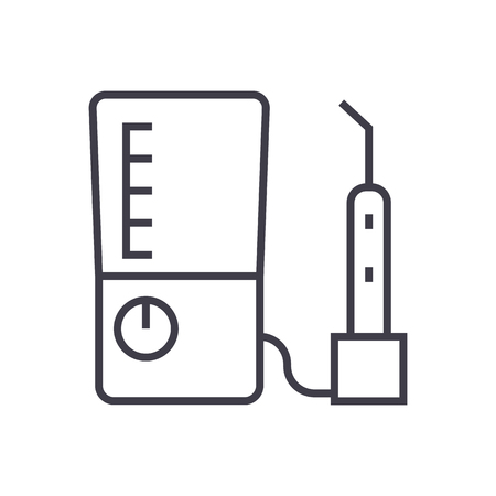 Tooth drilling machine line icon Illustration