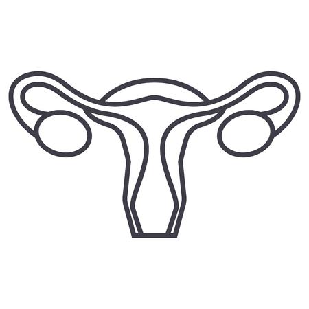 Uterus line icon