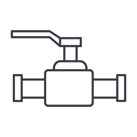 Valve illustration line icon