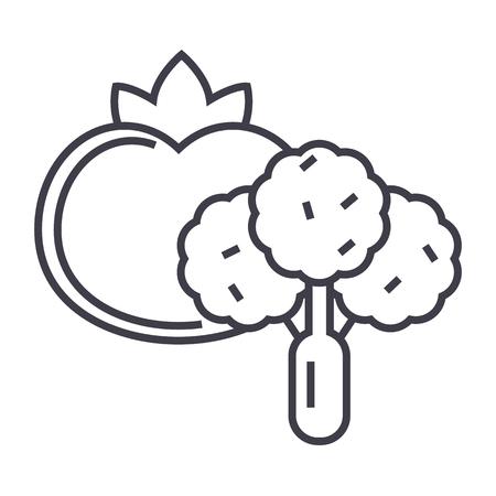 Vegetables line icon