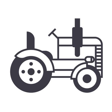 Icono de línea de tractores Foto de archivo - 87221061
