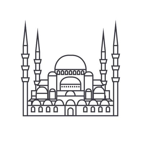 トルコのモスク線アイコン  イラスト・ベクター素材