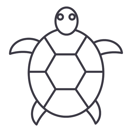 Turtle line icon Ilustrace