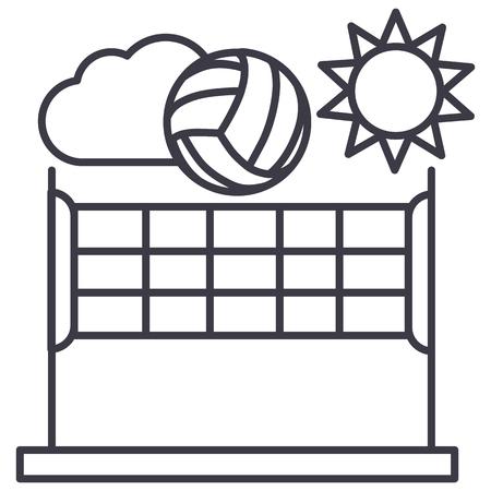 Volleybal lijn pictogram