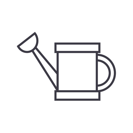 Watering can line icon