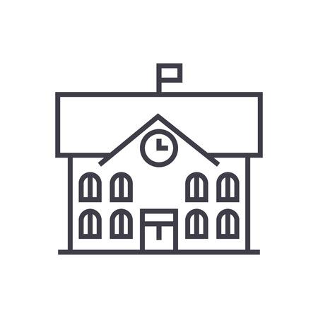 Rathaus-Liniensymbol Standard-Bild - 87221096