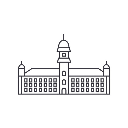 Town hall  line icon