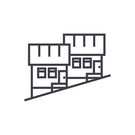 Townhouse line icon