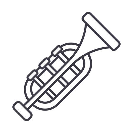Trumpet line icon Illustration