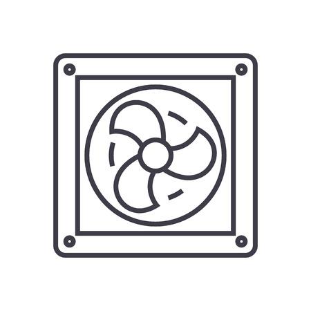 Ventilation line icon