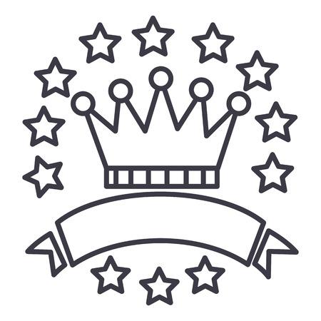 Victory line icon